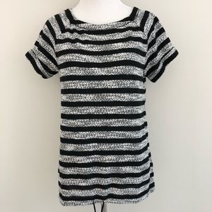 Lou & Grey - black/grey Striped Blouse - XS